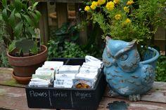 DIY Chalkboard Seed Organizer --> http://www.hgtvgardens.com/diy-garden-projects/diy-seed-organizer?soc=pinterest