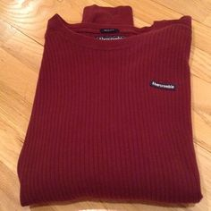 Wrap it up for him for the holidays Abercrombie men's long sleeve , 100% cotton, super soft thermal looking. Abercrombie Sweaters Crew & Scoop Necks