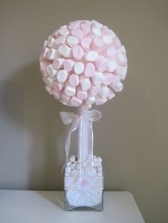 7 Useful Cookout Baby Shower Ideas Marshmallow tree, to go on the sweet table. Deco Baby Shower, Girl Shower, Shower Party, Baby Shower Parties, Bridal Shower, Marshmallow Tree, Sweet Trees, Ballerina Birthday, Festa Party