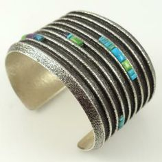 Turquoise and Sugilite Cuff by Boyd Tsosie - Garland's Indian Jewelry