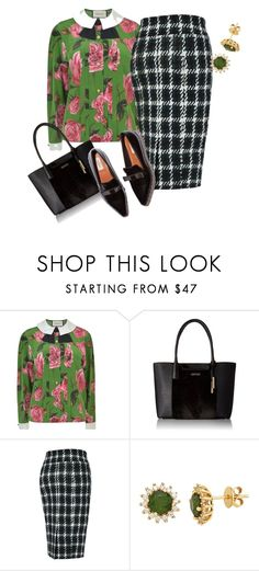 """""""Plus size eclectic office fab"""" by xtrak ❤ liked on Polyvore featuring Gucci, Calvin Klein, Melissa McCarthy Seven7 and plus size clothing"""