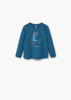 T-shirt bordada algodão -  Criança | MANGO Kids Portugal
