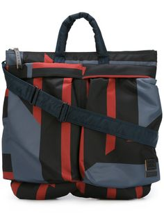 2a793dea7145 Shop Marni Marni x Porter-Yoshida colour block tote bag.