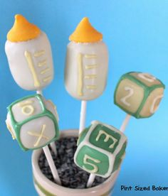 Learn how to create these themed cake pops for a special baby shower sweet!