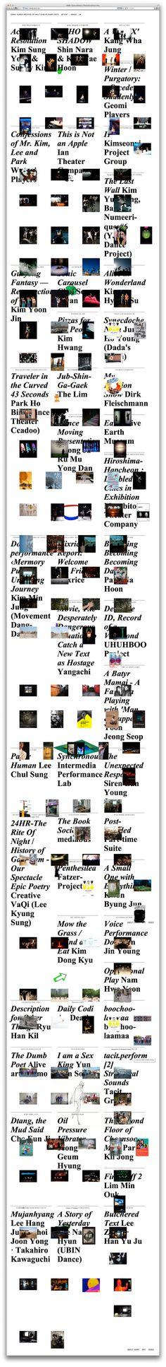 website for KAIA, hong × kim