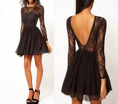 Long sleeve lace dress under 50