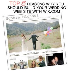 Top 5 Reasons Why You Should Build Your Wedding Web Site with @wixcom