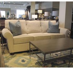 Shop for the Metro Collection Transfer Sofa at Belfort Furniture - Your Washington DC, Northern Virginia, Maryland and Fairfax VA Furniture & Mattress Store Cheap Furniture Online, Discount Furniture, Home Living Room, Living Room Furniture, Deck Furniture, Home Theater Furniture, Belfort Furniture, Home Theater Seating, Classic Sofa