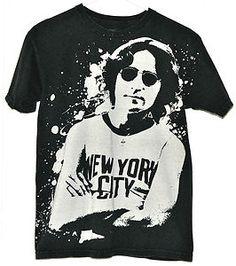 ebay - LENNON NYC t-shirt GAP vintage style Beatles tee top rock 'n roll size - S - $4.99