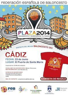 """Torneo 3x3 de Baloncesto """"Plaza 2014"""".    Más información: http://www.facebook.com/events/231811686921220/"""