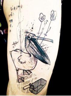 Kofi Olive Pelican tattoo
