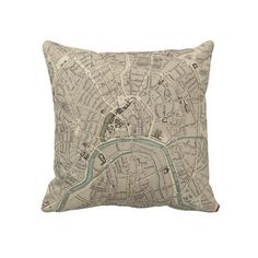 Vintage Map of Moscow (1836) Pillows from Zazzle.com $62.40
