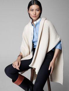 massimo dutti equestrian 2014 fall winter campaign5 Liu Wen Poses for Massimo Dutti's Equestrian Fall 2014 Campaign