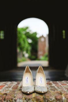 Jimmy Choo's! #bride #shoes #pumps #jimmy #choo #trouwschoenen #bruidsschoenen Trouwen in Het Oude Slot in Heemstede | ThePerfectWedding.nl | Photography: Lato Photography