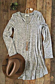 Delphine Dress - Gray – Bungalow 123