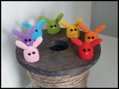 DIY crochet finger puppets for your shoe box gifts! I do not crochet, but I know people that do ;)