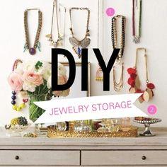 A Collection of DIY Jewelery Storage Ideas www.progressionbydesign.com