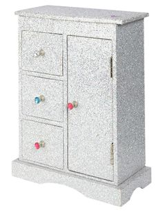 Silver Glitter Jewelry Armoire | Organization | Room Accessories | Shop Justice