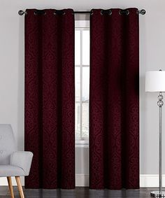 Look at this #zulilyfind! Burgundy Adelaide Jacquard Curtain Panel - Set of Two #zulilyfinds