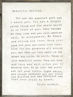 I love this so much, I want to frame it and put it in my room or my future daughters room!!!!