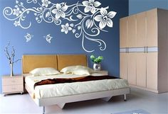 Diy wall painting techniques decor wall painting decorative wall painting techniques wall paint designs designs for Interior Wall Painting Designs, Wall Painting Decor, Bedroom Wall Designs, Interior Walls, Paint Designs, Interior Design, Painting Walls, Bedroom Ideas, Wall Paint Patterns