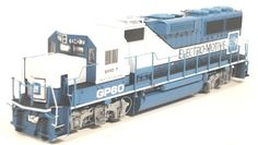 Walthers #30563 PROTO 2000 Diesel EMD GP60 Powered -- Electro Motive Division #7 (blue, white)