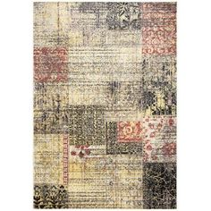 Rizzy Home BS3947 Rugs Bayside Home Decor ;Multi 6 1/2 x 9 1/2, Black