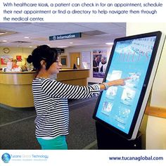 With #healthcare #kiosk, a #patient can check in for an #appointment, schedule their next #appointment or find a #directory to help #navigate them through the #medical center. ‪#‎TucanaGlobalTechnology‬ ‪#‎Manufacturer‬ #HongKong