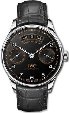 IWC Schaffhausen celebrates the Anniversary of Pisa Orologeria with a special edition of its Portugieser Annual Calendar model that will be produced in Amazing Watches, Best Watches For Men, Luxury Watches For Men, Beautiful Watches, Cool Watches, Casual Watches, Iwc Chronograph, Iwc Watches, Swiss Army Watches