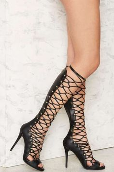 Lust for Life Dynamite Lace-Up Heel - Sandals