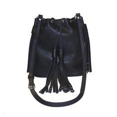 Image of L A I R Leather Patel Bag Black