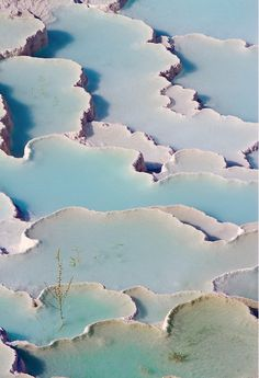 // Turkey travertine formations pamukkale