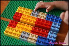 La simetria amb peces Lego Preschool Math, Maths, Legos, Lego Builder, Math About Me, Fun Learning, Origami, School Ideas, Teacher