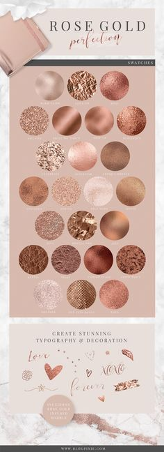 Rose gold textures for branding, blog and design. With copper, bronze and rose golden glitter, foil, marble and more. The Ultimate Stylish Textures Pack is now on Creative Market.
