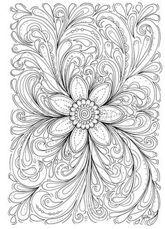 floral coloring page  Dream of a Flower  instant door Fleurdoodles