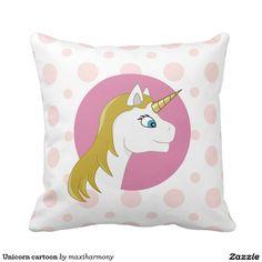 Unicorn cartoon pillow