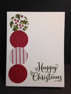Oh, What Fun, Christmas Card, Stampin' Up!, Rubber Stamping, Handmade Cards                                                                                                                                                                                 More