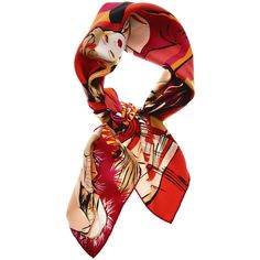 DIOR CARRE RUNAWAY Silk Scarf ($380) ❤ liked on Polyvore