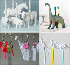 Reutilizar figuras de animales - Velas, portacepillos, llaveros...