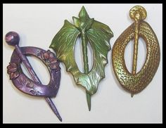 Polymer Clay Shawl Pins by Kabi Designs, via Flickr