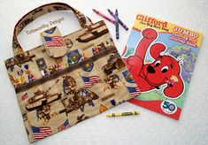 Red Hearts Crayon Holder Coloring Book Tote by ToteworthyDesigns ...
