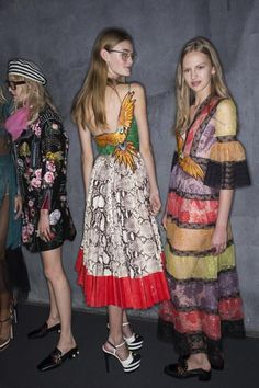 A look backstage at Gucci Spring 2016