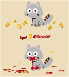 Spot seven differences.