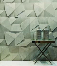 geometric texture wall treatment