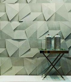 geometric texture wall treatment