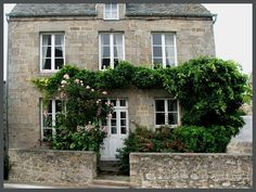 Barfleur grey stone house Normandy France I need to spend a week or so in that house!