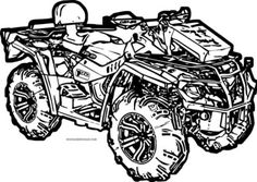 4 Wheeler Coloring Pages clip art for everything