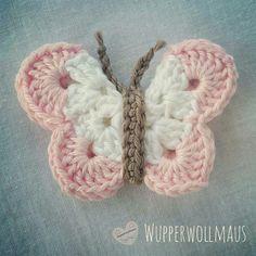 Schmetterlinge häkeln *Kostenlose Häkel-Anleitung*  #häkeln #schmetterling #deko #blumen #spring