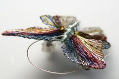 Butterfly Brooch Butterfly brooch pin Butterfly jewelry Unusual brooch Handmade wire jewelry Insect jewelry Insect art Insect brooch.  Ask a Question €90.00 EUR