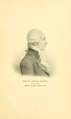 Duke de Lauzun et de Biron, Peer of France, General in Chief French Army